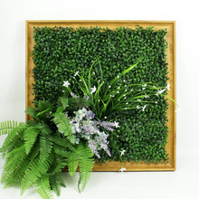 Designer home decor indoor frame green wall with foliage