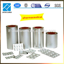 Rollo de papel de aluminio impreso grado farmacéutico