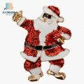 La aduana Santa Claus hace publicidad del Pin de la insignia del esmalte del metal de la Navidad para la promoción