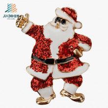 Custom Santa Claus Crafts Christmas Metal Enamel Badge Pin for Promotion