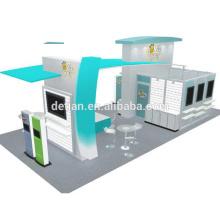 Detian offre l'affichage de salon de conception de stand de mode affichage de salon