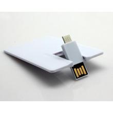 Tarjeta de crédito de alta velocidad USB Flash Drive Tarjeta de crédito OTG Flash Disk para promoción USB Pen Drive
