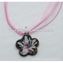 new arrival Lampwork Glass Pendant Necklace Lampwork glass Necklace glass ball pendant light with wax cord