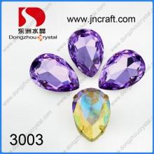 Amatista 18 * 25mm Cristal Punto de piedra trasera para la venta al por mayor