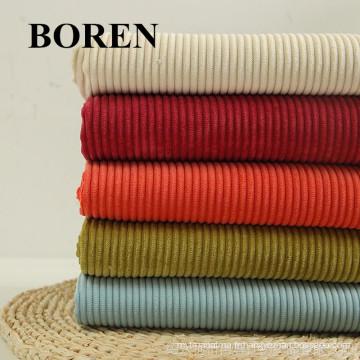 Tissu en velours côtelé teinté de coton 8Wales pour vêtements12X16 / 64X128
