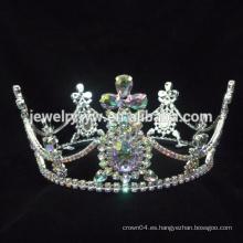 Accesorios para el cabello joyas de cabello coronas de la vendimia y pendientes de cruz oro chapado joyas al por mayor coronas y tiaras