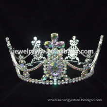 Hair accessories hair jewelry vintage crowns and cross earrings gold plated jewelry wholesale crowns and tiaras