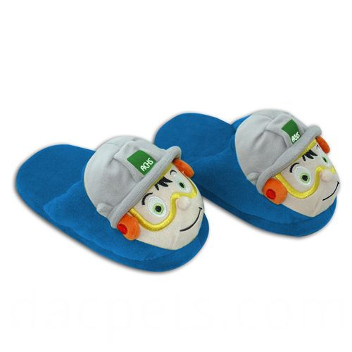 cartoon boy plush slipper