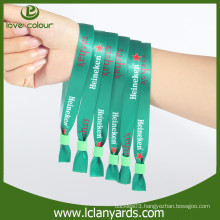 Custom sports sublimation fabric polyester material concert wristbands