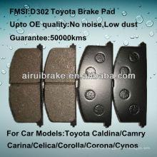 OE Qualität Toyota Tercel Front Bremsbelag D263