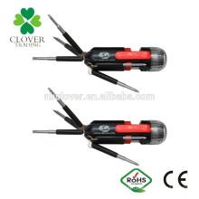 2 * AAA batterie ABS 6 LED 8 en 1 tournevis multi avec torche lampe de poche