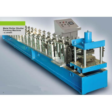 PLC Frequency Control System with Touch Screen Metal Shutter Doors Cold Roll Forming Machine