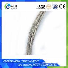 6 * 7 acero al carbono Cable de alambre galvanizado