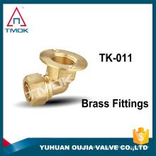 """Acessórios para tubos de latão flangeadas com conector de PVC 105 graus de cotovelo 3/8 """"mamilo acoplamento bucha união duplo latão metairal"""