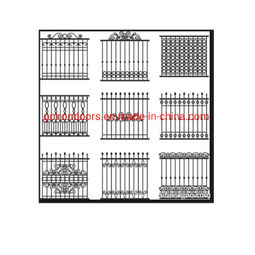 Wrought Iron Metal straight Curved Fence