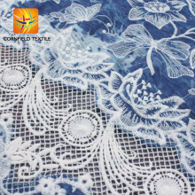 newest design custom african print cotton embroidery fabric