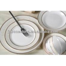 De primera clase de porcelana de oro Pakistán India elegante fina hueso china placa de cena