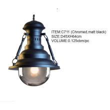 Good Quality Chromed, Matt Black Hanging Pendant Lighting (C711(chromed, matt black))