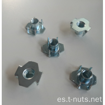 4 garras diente invertido Zinc Plating T-nuts