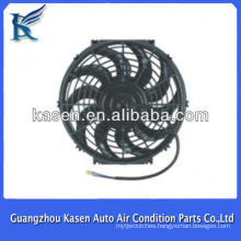 """Universal 12"""" 80W chrome plated auto cooling fan kits 12 inch 12V suck cooler electric radiator fan"""