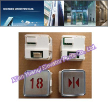 Elevator Kone Buttons Lift Spare Parts Stainless Steel Round Shape Push Call Button MTD-270