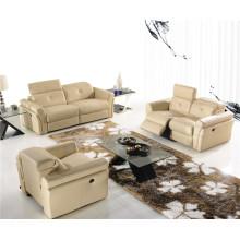 Натуральный кожаный кожаный диван для дивана (714)