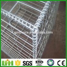 Maille soudé à grille métallique gabion hesco bassion / barrière militaire