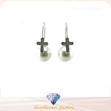 Wholesale Jewelry Pearl Style Woman′s Fashion AAA CZ 925 Silver Earring (E6552)