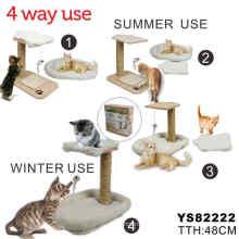 Árbol de gato de madera con material natural (YJ82222)