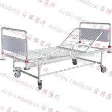 Head and foot board removeable hospital bed