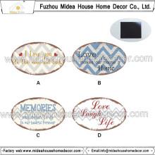 Decoração para casa Promocional Oval Heart forma personalizada ímã do refrigerador