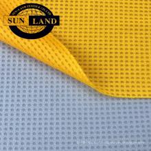 Fábrica sportswear tecido seco fit honeycomb pano microfibra waffle