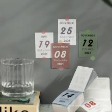 Mini Calendar Adhesive Sticky Notes Pad