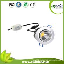 2015 Venta caliente redonda COB LED Downlights diameables