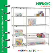 Exhibition stand chrome display rack