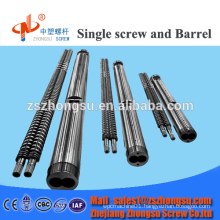 Parallel twin screw barrel for PVC extruder
