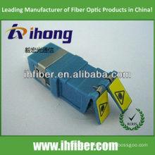 Shuttered LC fiber optic adapter duplex