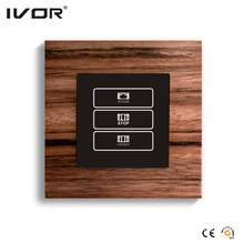 1 Gang Curtain Switch Wood Outline Frame (HR1000-WD-CT(AC1))