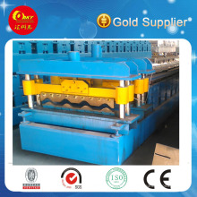 Corrugated Glazed Step Tile Color Steel Tile Roll Forming Machine