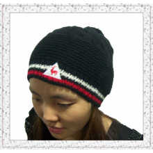 Custom Made Jacquard Knitted Beanie Hat with Spandex (1-3512)
