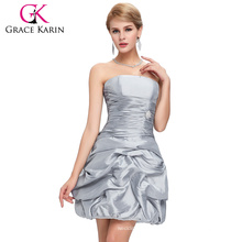 Grace Karin New Model Sexy Off Shoulder Grey Short Cheap Dresses For Homecoming CL4098-2