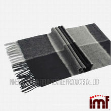 Men Checked Pure Cashmere Scarf Fabric