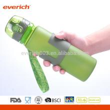 Garrafas de água dobráveis de silicone, garrafa ao ar livre para viajar, acampar, caminhar, andar, correr