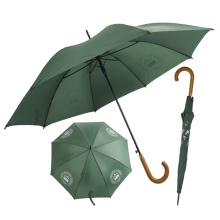 Metallständer Werbelogo grün Nylon Auto Open 23 Zoll Regenschirm