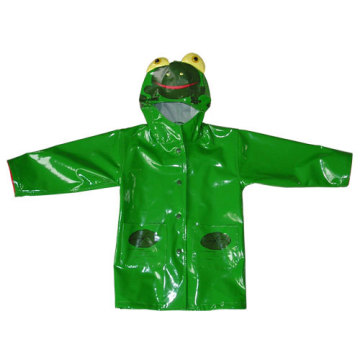 PU Raincoat with Crane Design