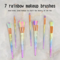 7pcs Regenbogen beste Make-up Pinsel Marke Set