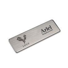 High Quality Metal Etched Logo Laser Engraved Stainless Steel Electrophoretic Label Name Plate