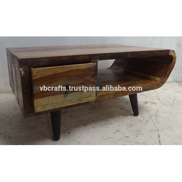 Recycled Wooden Tv Stand Art Deco Style