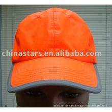 Orange Baumwolle Reflektierende Sicherheits-Kugelkappen