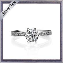 Preço de atacado 18k White Gold Female Ring